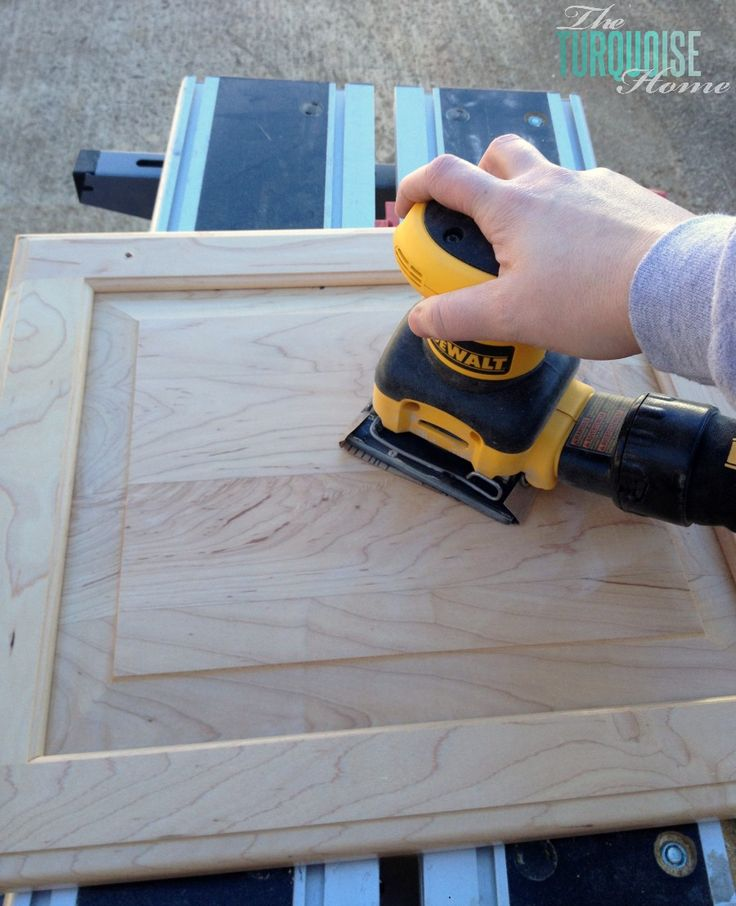 The Average DIY Girl's Guide to Painting Cabinets: Sand everything #DIY #Painting
