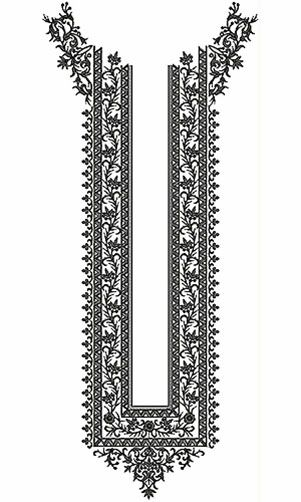 Long Arabian Neck Embroidery Design