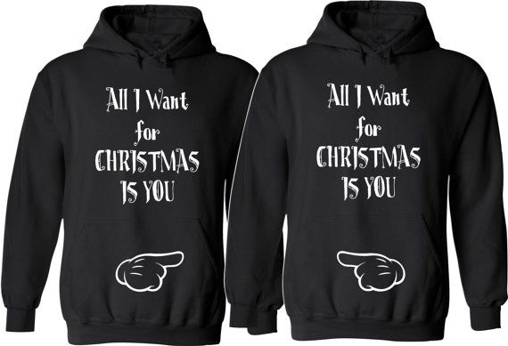 All I Want for Christmas Is You. Couple Hoodies. Unisex Sizes. Cozy. Christmas Couples. Gift for her. Gift for him. Xmas Gifts.Price For 2