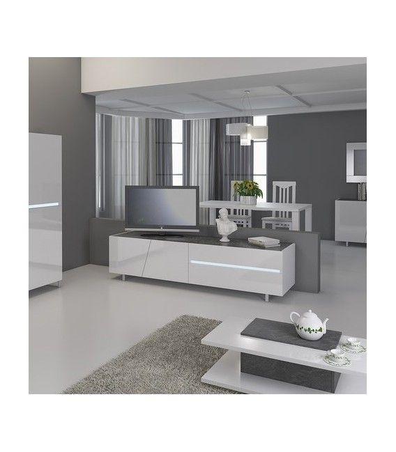 Mobile Porta Tv Cooper Laccato Bianco Lucido Con Luce Mobili Porta Tv Design Di Mobili Tavoli Da Salotto