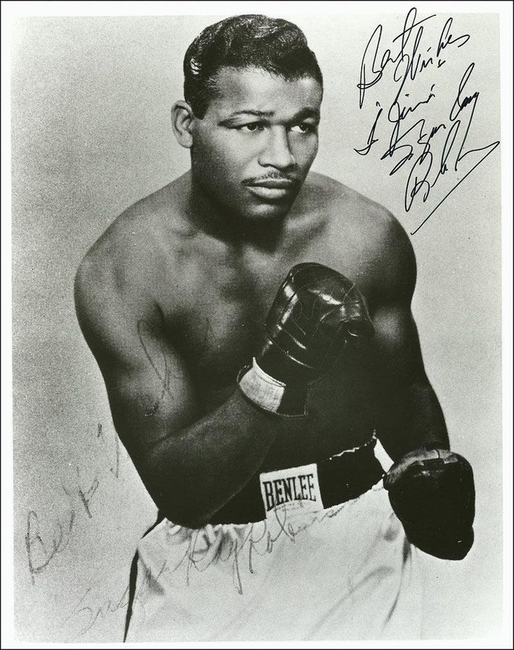Sugar Ray Robinson        .....Someone once said there was a comparison between Sugar Ray Leonard and Sugar Ray Robinson. Believe me, there's no comparison. Sugar Ray Robinson was the greatest.  —Sugar Ray Leonard      ....The king, the master, my idol.  —Muhammad Ali       ....He was the greatest. Pound for pound, the greatest fighter who ever lived. There's no question about it.  —Jake La Motta