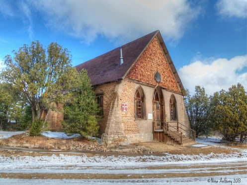 This is a small adobe church located in the ghost town of Pinos Altos, New Mexico. It was built in 1898 with money donated by Phoebe Elizabeth Apperson Hearst, an American philanthropist, feminist and suffragist, who was also the mother of William Randolph Hearst. Phoebe and her huband, George, owned a mine in Pinos Altos, which was once a very productive gold mining town. Today, the tiny town is sparsely populated by people who have restored some of the historic homes in the area. The…