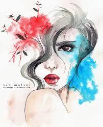 watercolor woman - Buscar con Google
