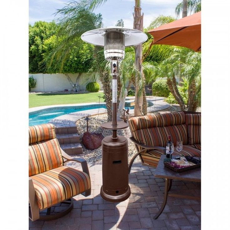 Propane Patio Heater Burner Warmer Outdoor Portable Steel Free Standing Wheels  #PropanePatioHeaters