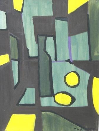 Giulio Turcato - Natura morta - olio su tela - cm. 50x65 - inizio anni '50