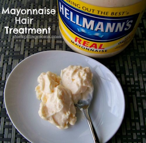 Mayonnaise Hair Treatment really works to give your hair natural shine! Perfect for split ends!