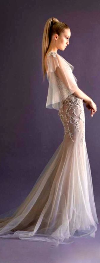Paolo Sebastian white evening gown