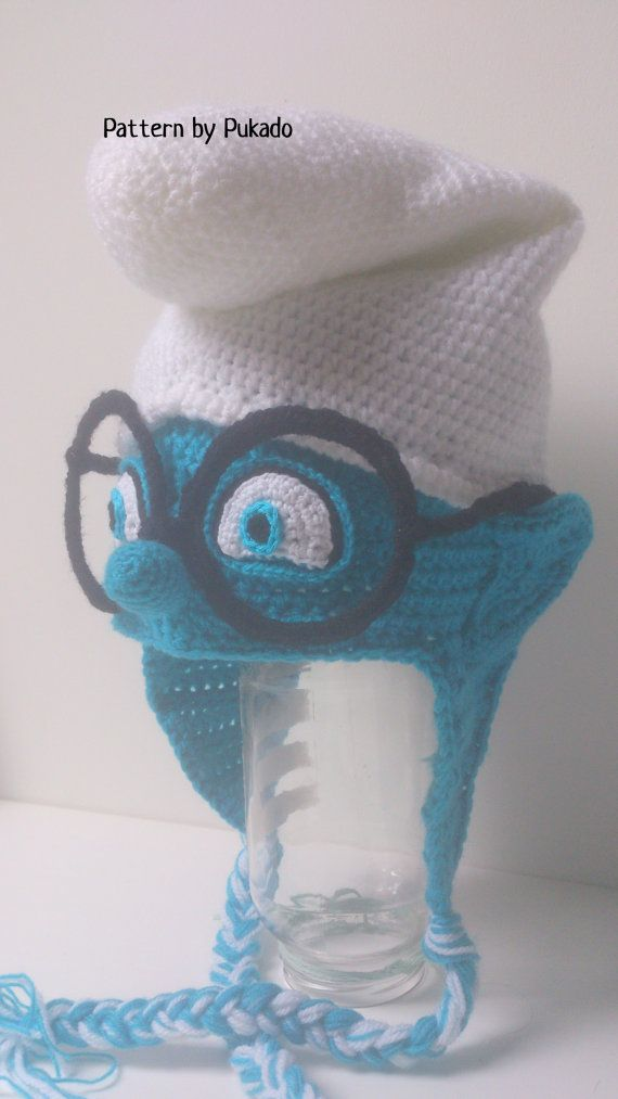 Halloween costume idea, crochet: Pattern Smurfs Hat Instant Download 3 sizes included by Pukado