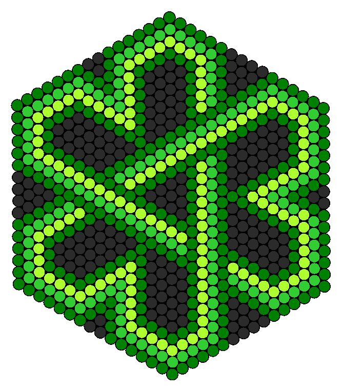 Celtic Knot Shamrock  perler bead pattern… wonder if you could do this with paper piecing