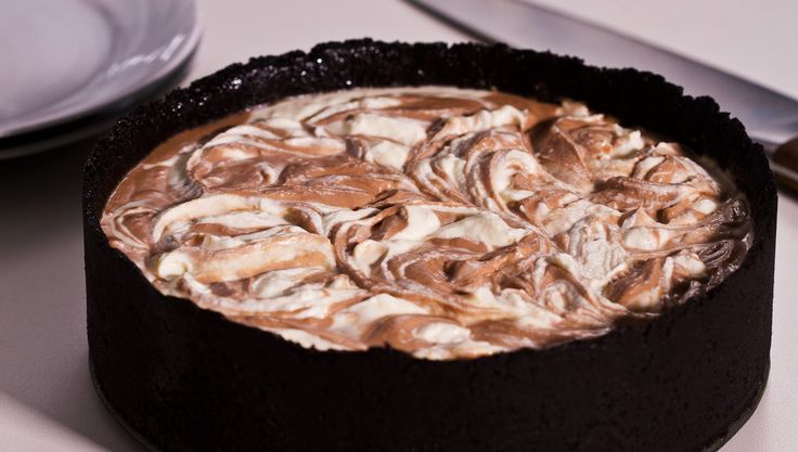 No-Bake Nutella Swirl Cheesecake