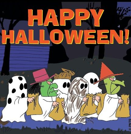 happy halloween peanuts cartoon via - Charlie Brown Halloween Cartoon