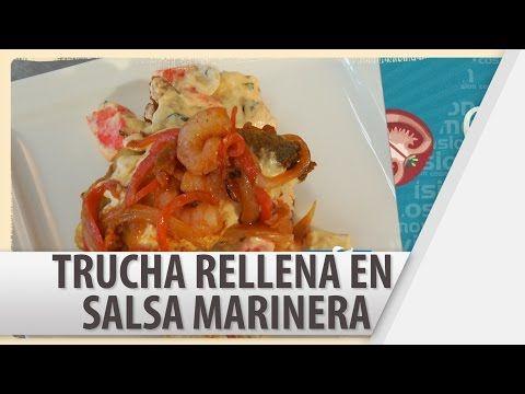 Trucha Rellena en Salsa Marinera / Recetas de Comidas / Tu Cocina - YouTube