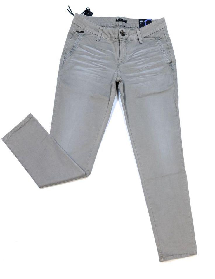 Jeans Hose Damen Sisley Benetton W27/L29 Grau Neu Baumwolle aus Italien!