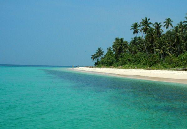 white powder sand, morotai, Indonesia