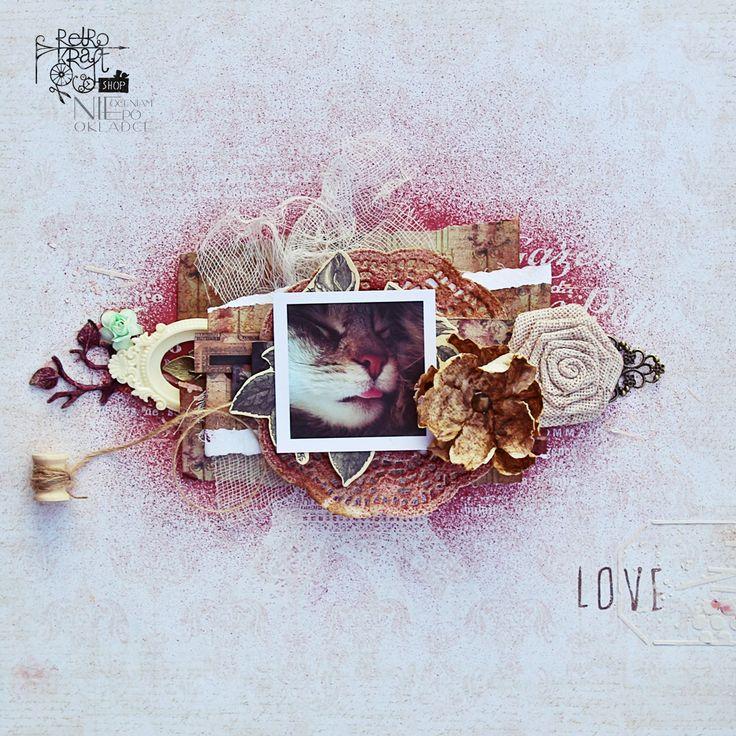Retro Inspiracje: Kocie LO Ani / Retro Inspirations: Ania's cat layout