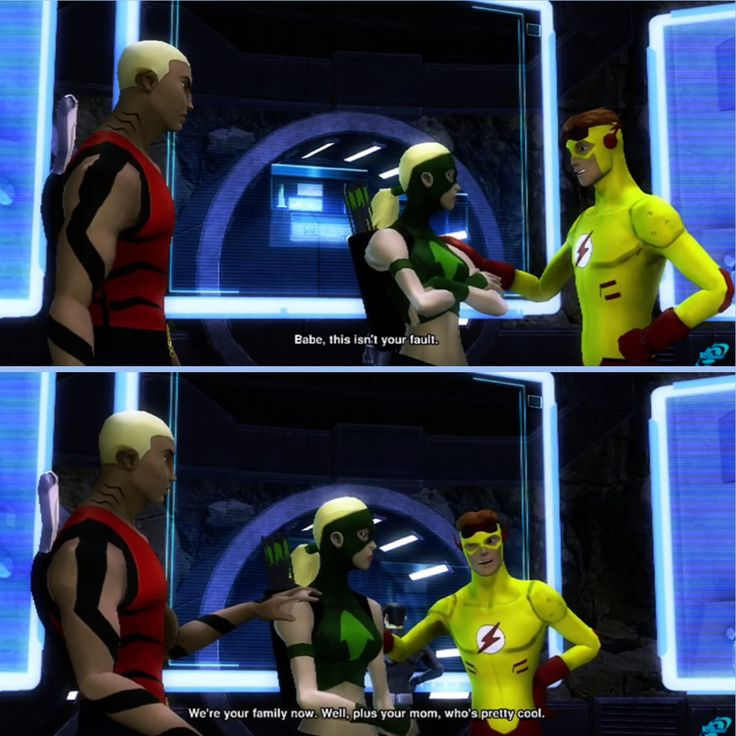 Artemis, Wally, and Kaldur in the Young Justice: Legacy game