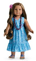 American Girl Doll of the year 2011~ Kanani ~ Archived in 2012, Kanani Akins brings to life the story of a girl who loves welcoming others to the wonders of Hawii. She's especially excited to host her cousin, but her cousin never seems to feel at home.  Kanani must find a way to connect with her and share the aloha spirit.