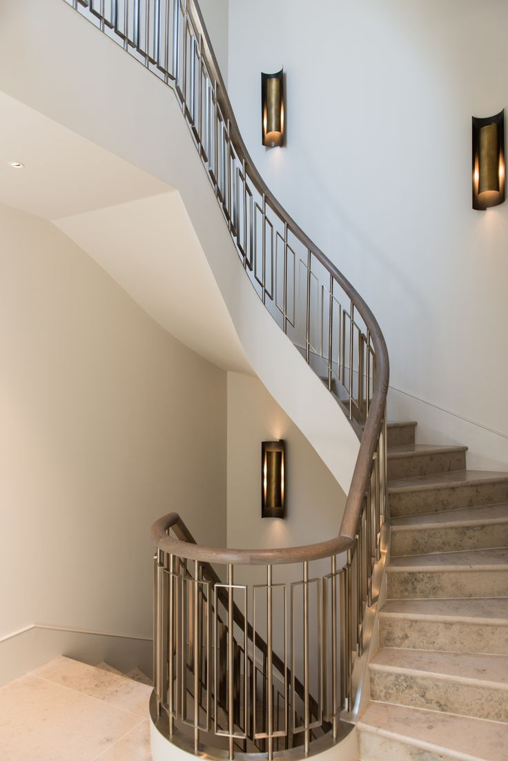 Helix staircase in Almond Gold PVD coated coloured stainless steel by John Desmond Ltd