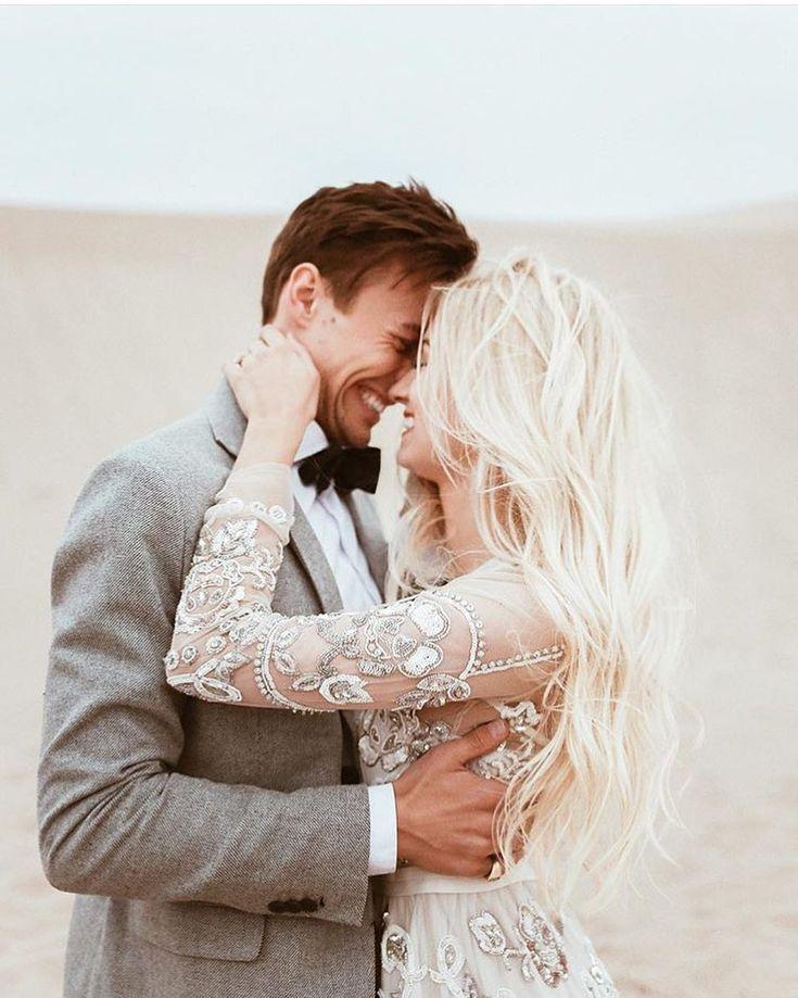 Those sleeves! Beaded sheer long sleeve modest wedding dress
