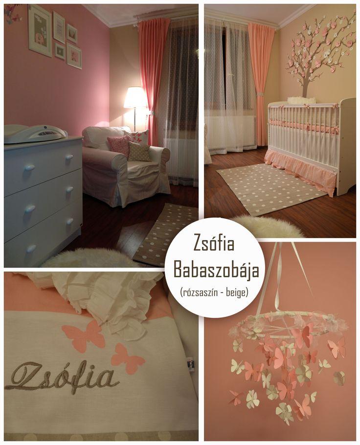 Kislány szoba,Beige-rózsaszín Baby room
