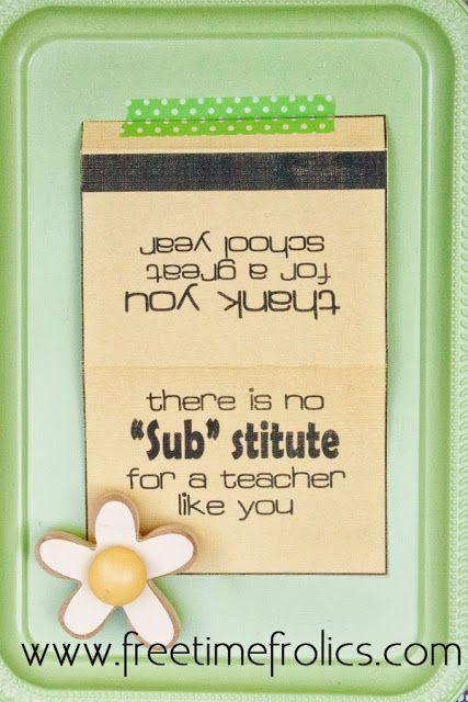 "Free Time Frolics: Thank You ""Subway"" Gift Card Printable"