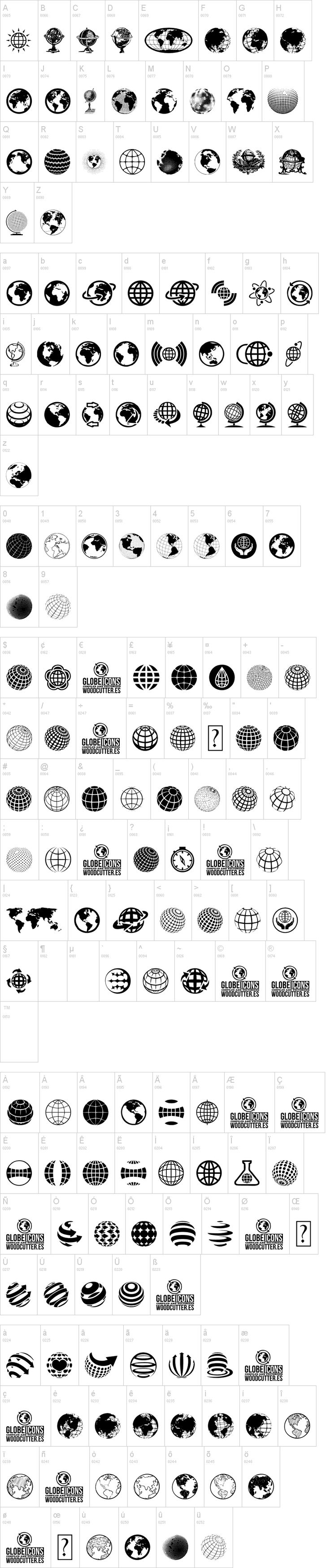 Globe icons by Woodcutter