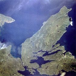 Cape Breton from space