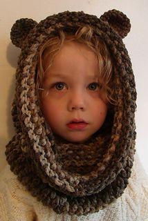 bear snood crochet pattern