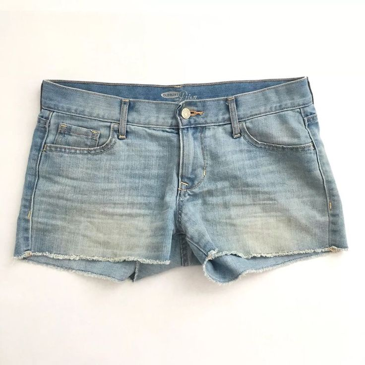 Old Navy Diva Women's Denim Cutoff Jean Shorts Size 4 Light Wash Pockets  | eBay