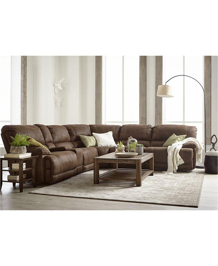 Jedd Fabric Power Reclining Sectional Sofa Collection | macys.com