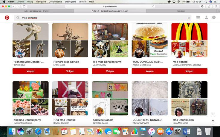 Ook voedselketens maken gebruik van Pinterest. Dit doen ze door het posten van hun voedingswaren. Naast de voedselketen worden ook bekende personen via deze manier in het daglicht gezet.