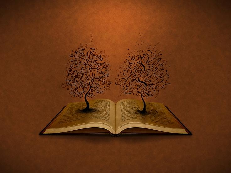 The GiddyUp Tree and The Bickham Script Tree (Wallpaper)
