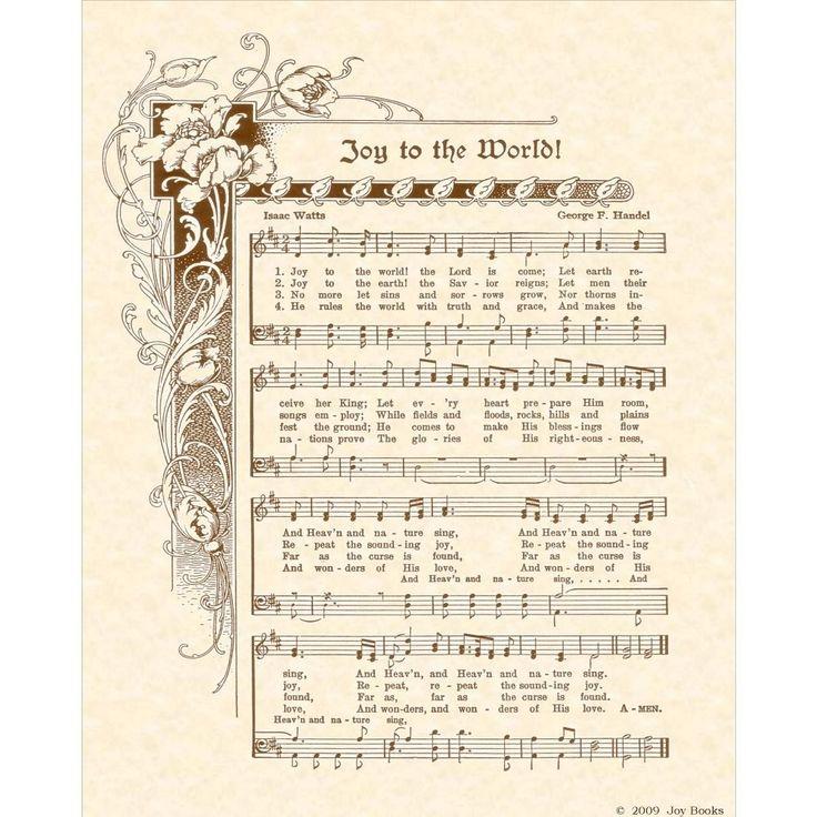 Joy To The World Custom Christian Home Decor Christmas