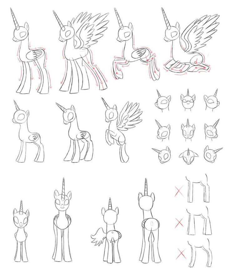 MLP draw alicorn by Pennygudeviantart on DeviantArt
