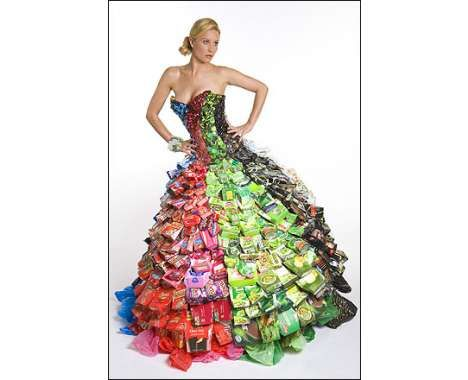 68 Creative Recycling Projects to Combat Global Warming (CLUSTER) ... dress made from chip bags.