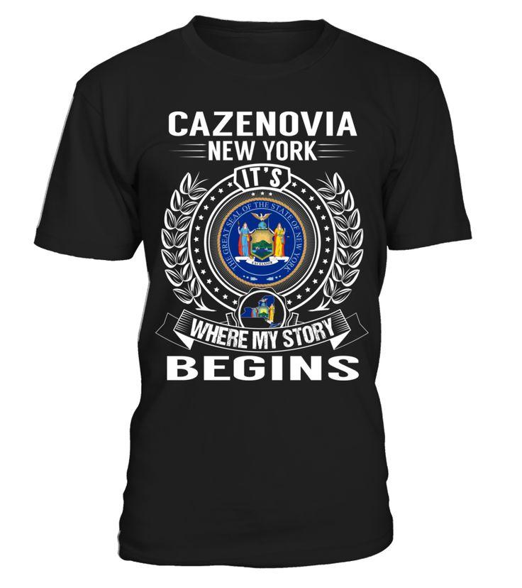 Cazenovia new york my story begins t shirt cool