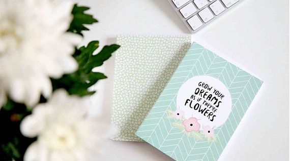 Notebook Journal Flowers Collection Notebook by ClaraMatse on Etsy