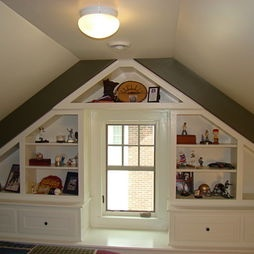 Attic bedroom and space