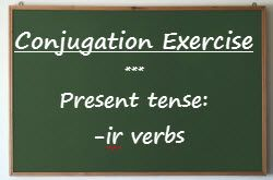 French exercises : present tense -ir verbs