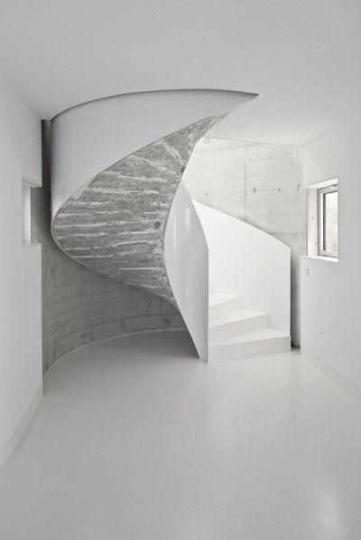 Stairs at Casa V, La Coruña, Spain by architecture teamDosis de Arquitectura