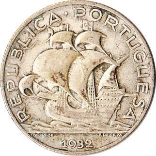 1932 Portugal 2-1/2 Escudos Silver Coin Sailing Ship KM#580 Rare