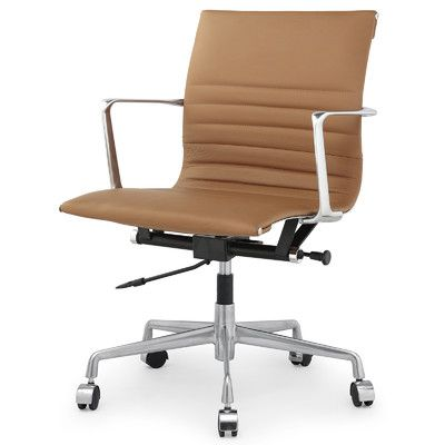 Found it at Wayfair - Leather Mid-Back Executive Office Chair