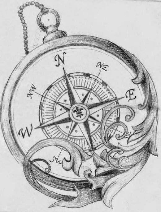 28 best Tatoo images on Pinterest  Compass tattoo design