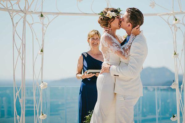 Boho wedding in Santorini | Nicole & Chris - Love4Wed