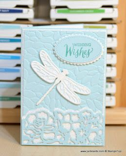 JanB Handmade Cards Atelier: Dragonfly Wedding Card