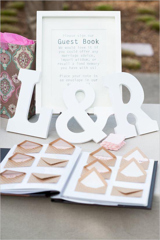 Mini envelope guestbook idea #weddingguestbook #budgetwedding  brieonabudget.com/. Diy Guestbook WeddingGuestbook ...