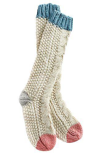 Stocking stuffer: Cutest cozy socks ever! soft tall socks for bed