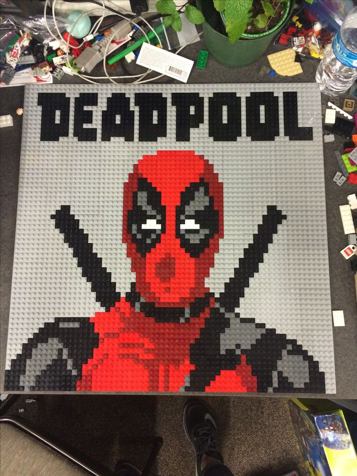 Deadpool lego mosaic