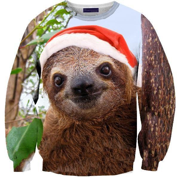 Christmas Sloth Sweater on Wanelo