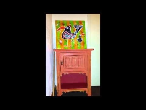 Annie Sloan krijtverf Barcelona Orange voorbeeld